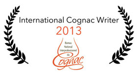 Cognac-Expert: International Cognac writer of the Year 2013 awarded by the BNIC